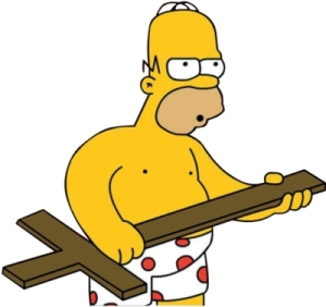 """I'm not a bad guy. Why should I spend half my Sunday hearing about how I'm going to hell?"" Homer"